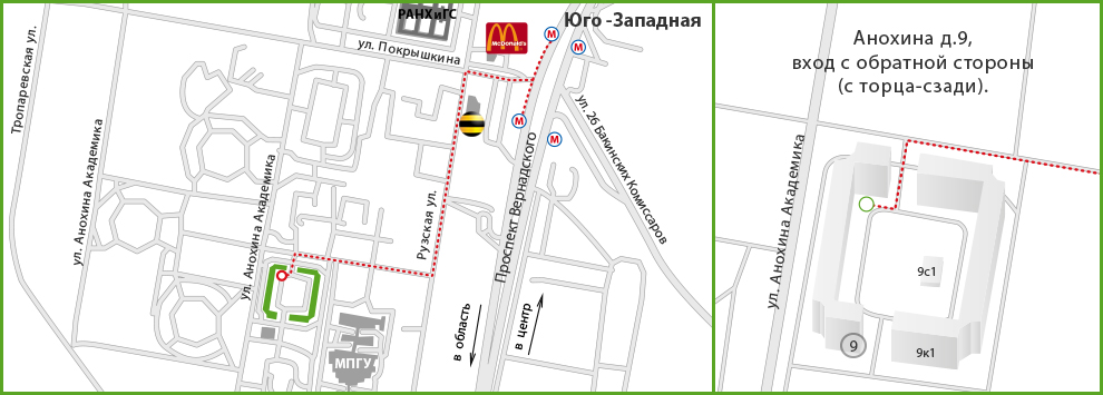 Схема проезда до мед центра